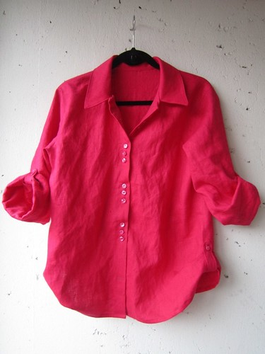 Shocking Pink BurdaStyle 03-2013-124 Linen Shirt | by delfinelise