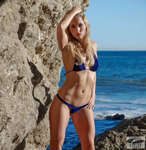 Beautiful Blue Eyed Blonde Swimsuit Bikini Fitness Model G