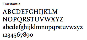 Font Sample - Constantia | by leahporter1994