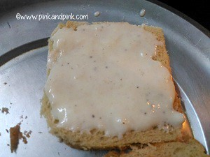 spread wheat mayonnaise generously