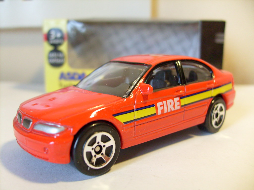 Charming ... REALTOY BMW 3 SERIES NO2 FIRE DEPARTMENT CAR 1/64 | By Ambassador84  OVER 10