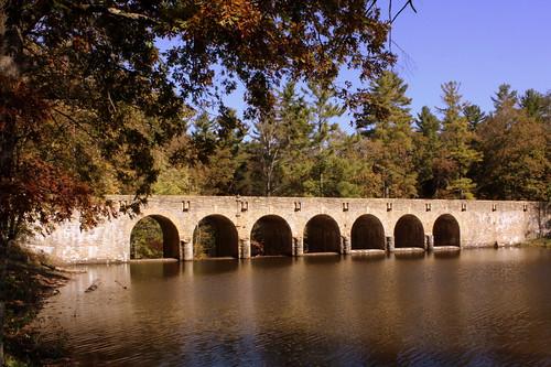Cumberland Mountain State Park Stone Arch Bridge View #3