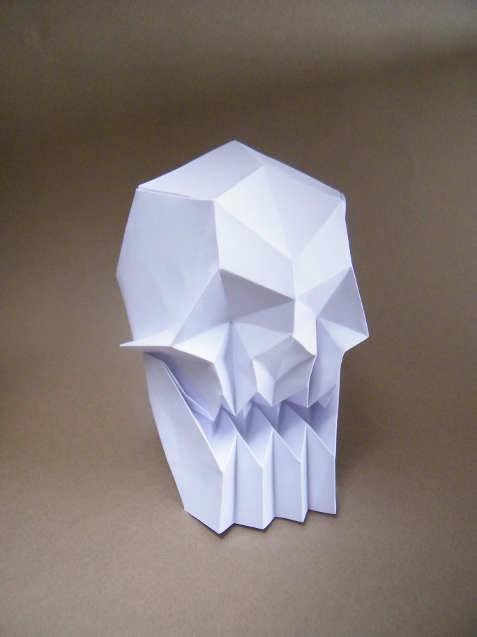 Human Skull Juston Hairgrove From A Square Of An 80g Pap Flickr