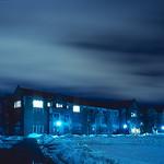 South Quad at night