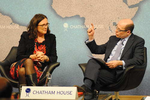 Cecilia Malmström, Commissioner for Home Affairs, European Commission in conversation with Nick Robinson, Political Editor, BBC | by Chatham House, London