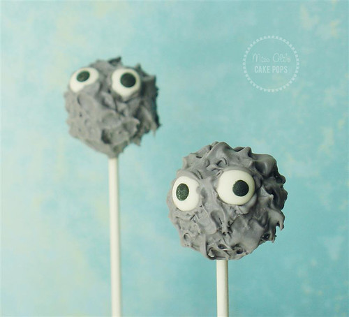 Gray Monster Cake Pops for the Depressed Cake Shop | by missaliscakepops