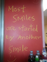 Most Smiles are Started by another Smile :)