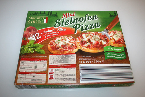 02 - Mamma Gina Mini Steinofen Pizza - Verpackung hinten / Boxing back
