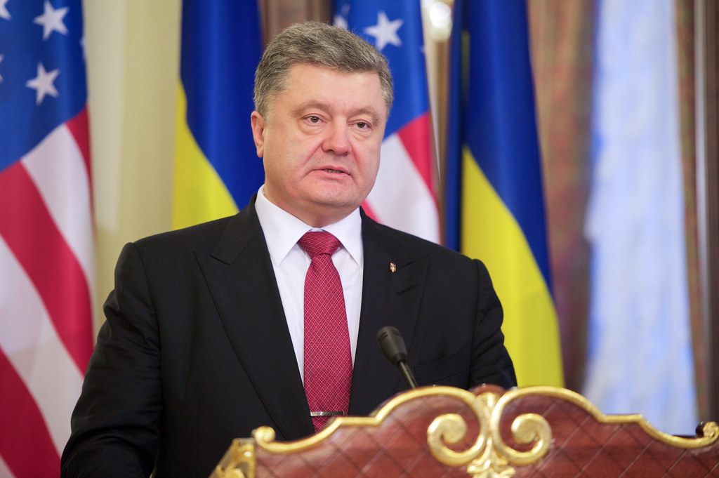 Ukrainian President Poroshenko Addresses the Media