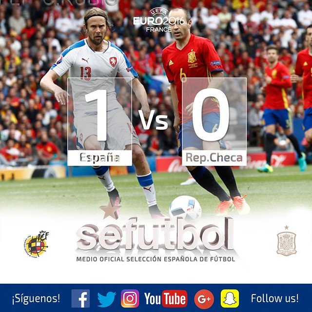Euro 2016 France (Grupos): España 1 -  República Checa 0