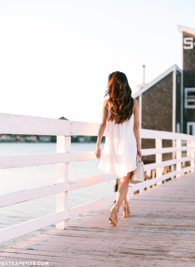 summer white flowy beach dress