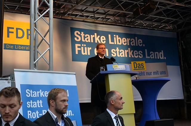 Wahlkampfabschluss mit Westerwelle und Lindner in Aachen