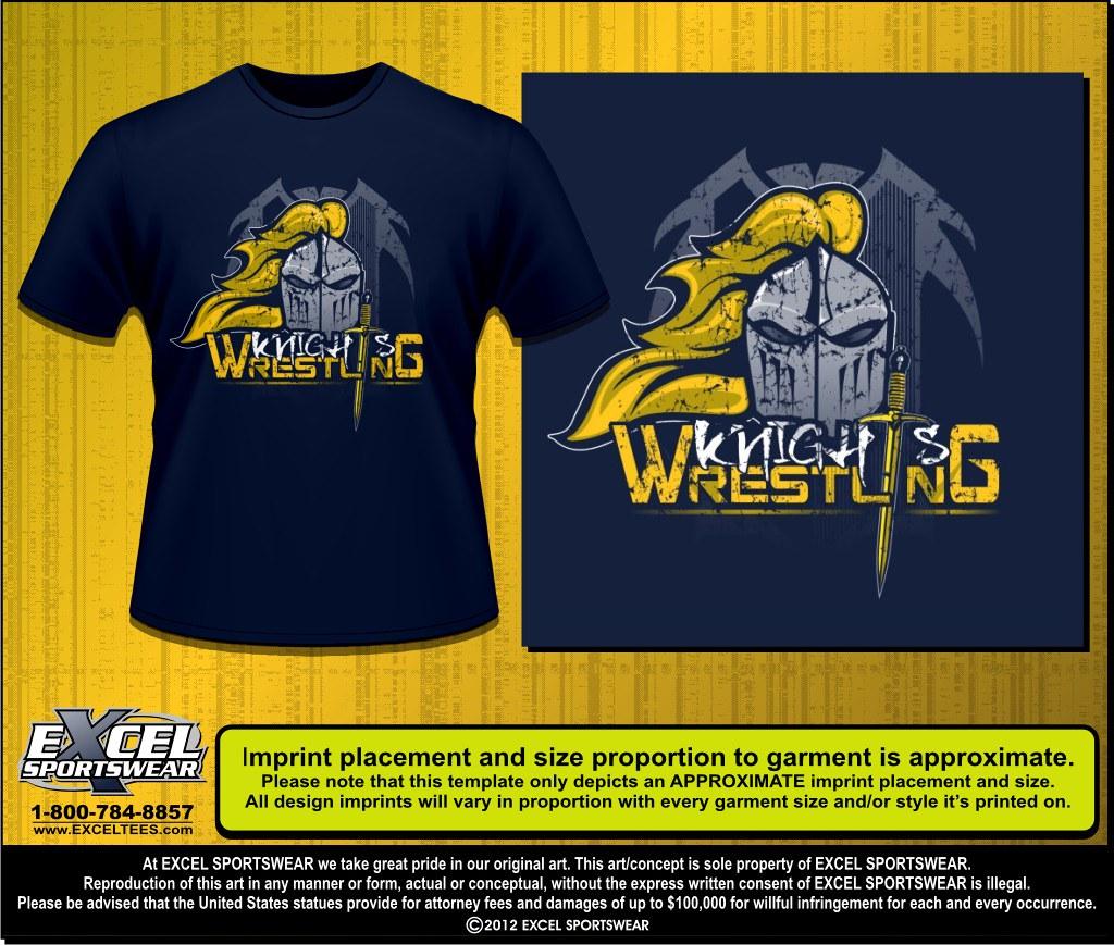 Norwin Knights Wrestling North Huntingdon PA Custom Ts Flickr - Property of t shirt template