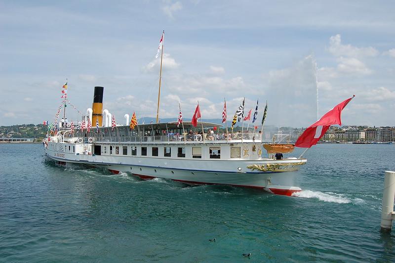 Belle Époque Steamers on Lake Geneva, Lausanne, SWITZERLAND