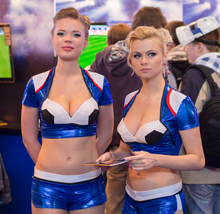PES girls at Igromir 2013 | by Sergey Galyonkin