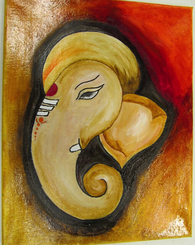 Lord Ganesha - Oil painting on canvas - By Anudeep Nayini ...