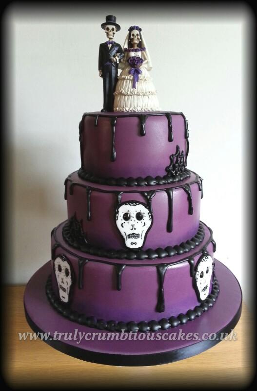 gothic wedding cake | purple and black gothic wedding cake w… | Flickr