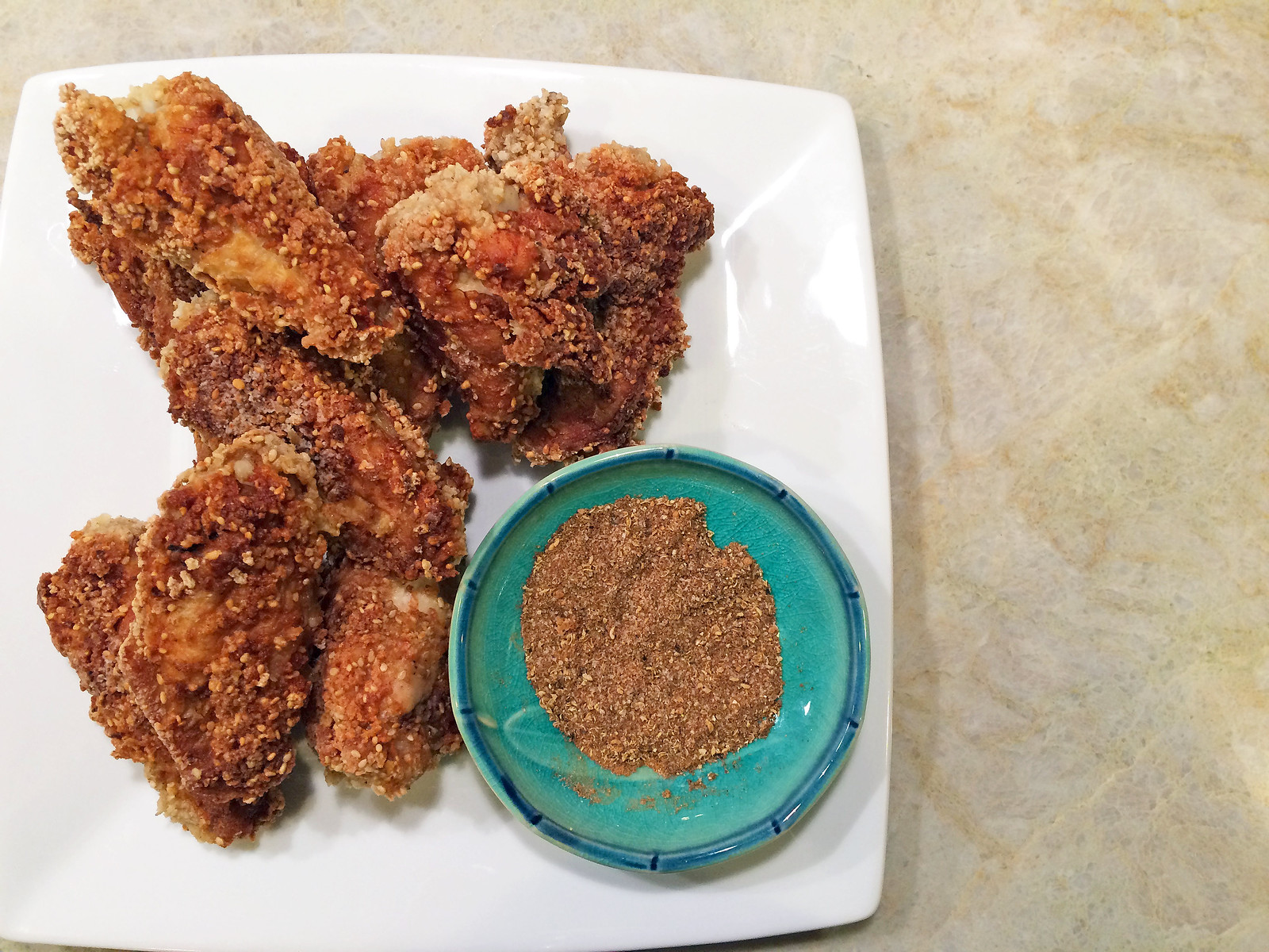 Five spice fried chicken with pepper salt