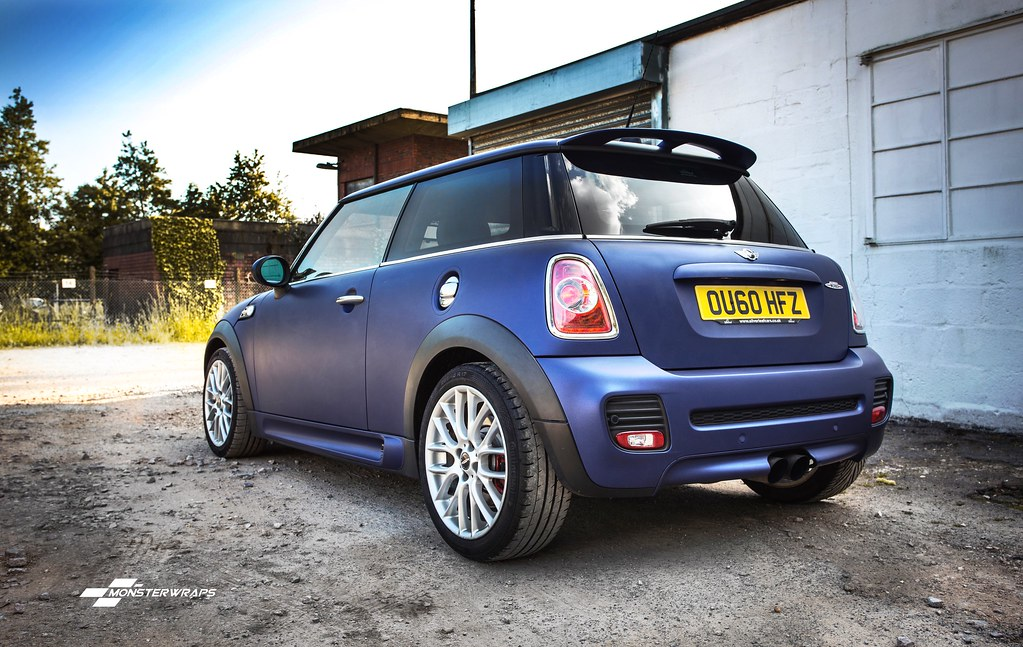 Mini Cooper Matte White >> BMW Mini Cooper S JCW - Matte midnight blue wrap | Flickr