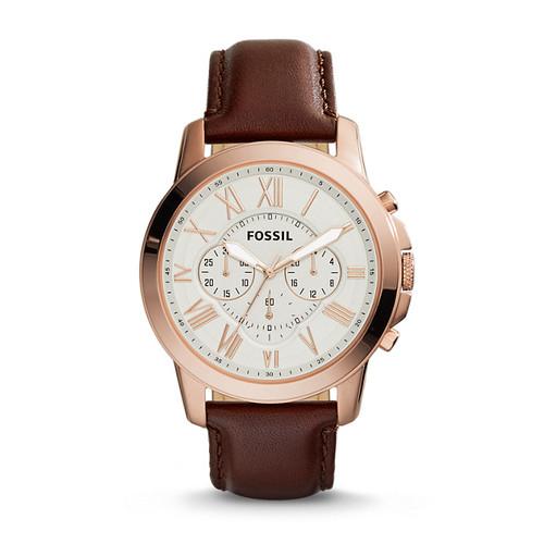 Reloj Fossil Grant Cronógrafo Cuero Hombre FS4991 1