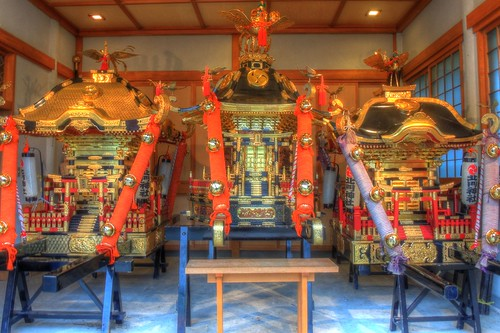 'Mikoshi' at Hokumon Shrine, Wakkanai on JUL 04, 2016 (1)