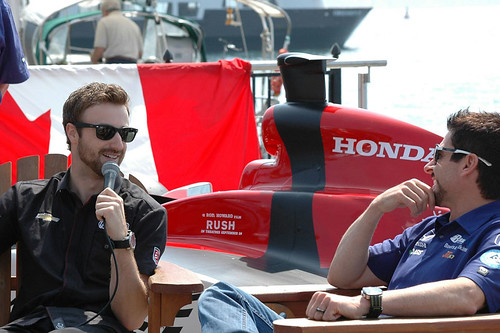 James Hinchcliffe and Alex Tagliani | by IndyCar Series