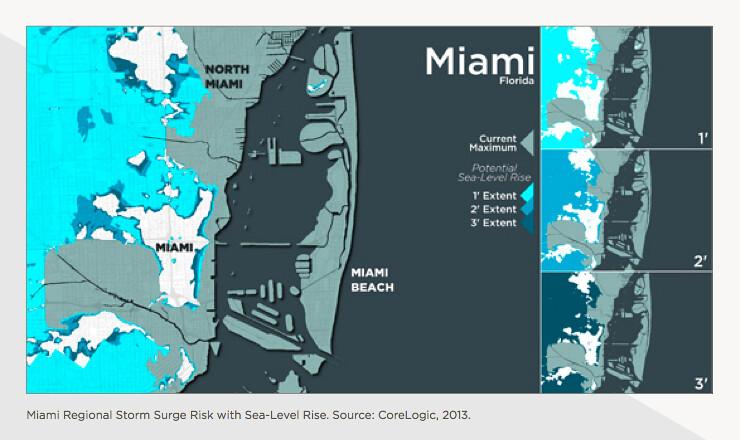 Florida Sea Level Rise Map.Miami Storm Surge Sea Level Rise Map These Maps Represent Flickr