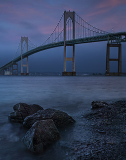 Newport bridge-dusk | by marion faria