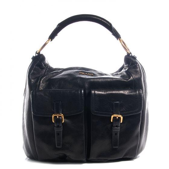5fb8f18a4a40 ... aylwynforcelledo PRADA Cervo Shine Hobo Bag Purse Handbag Tote Shoulder  Bag Nero Black | by aylwynforcelledo