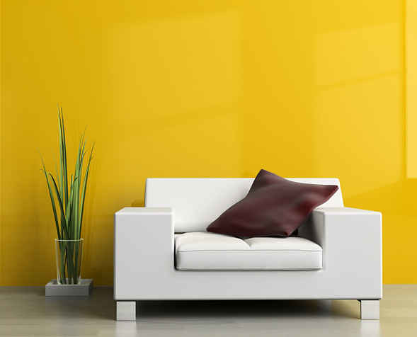 Wall Colour Shades for Living Room Interiors | Bright yellow… | Flickr