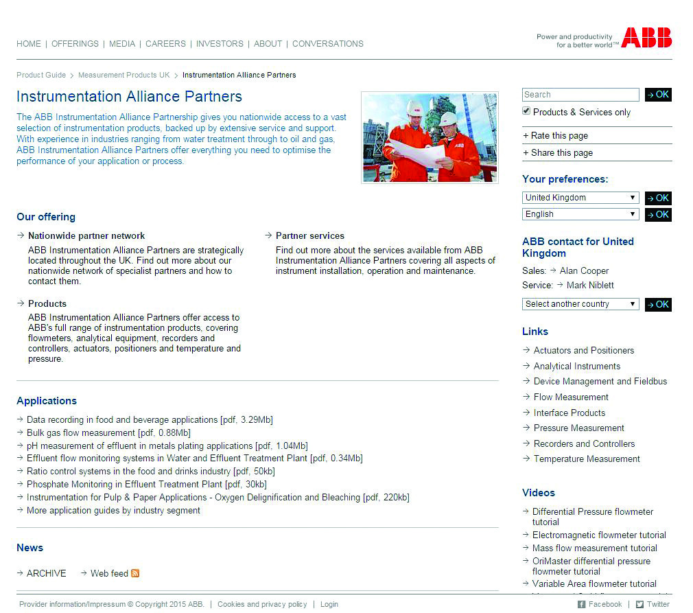 ABB appoints new channel partner to expand its instrument