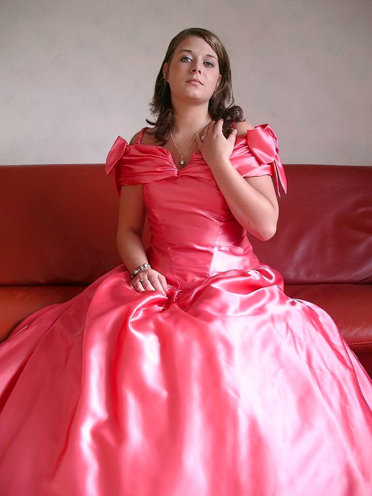 Wearing Satin Dress