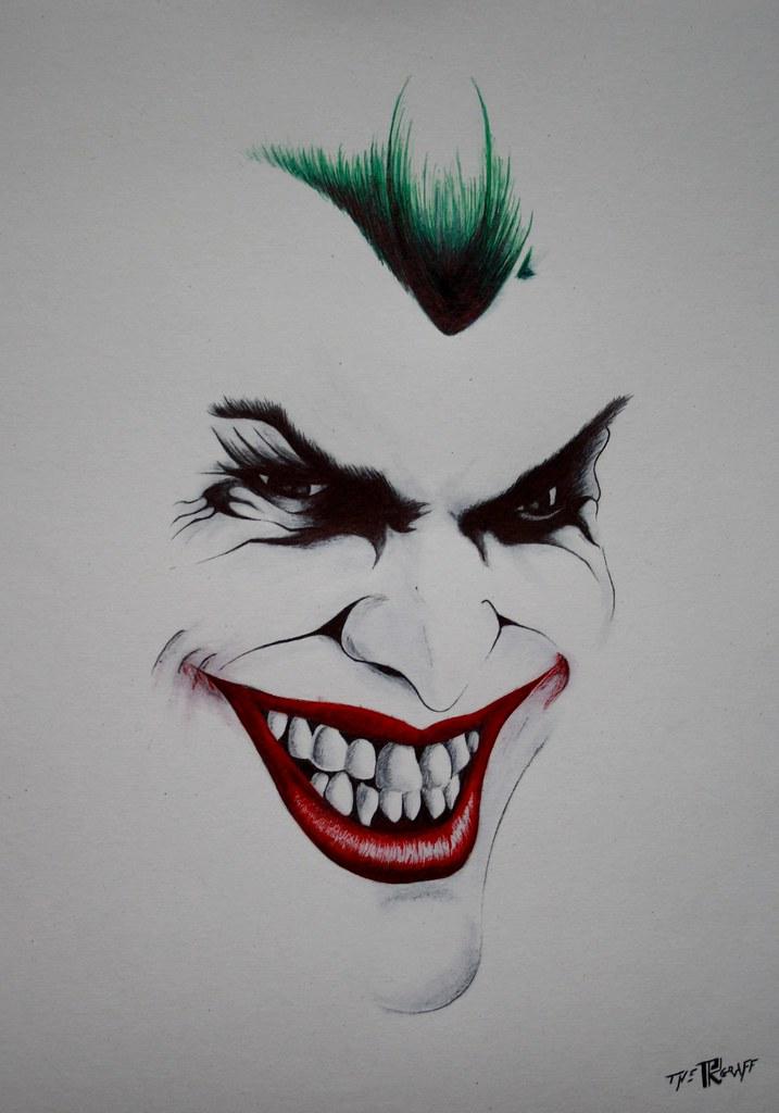 Dessin Joker Bic Stylo Bic Noir Rouge Vert Www Facebook Co Flickr