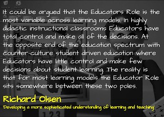 Developing a more sophisticated understanding of learning and teaching @richardolsen | by mrkrndvs
