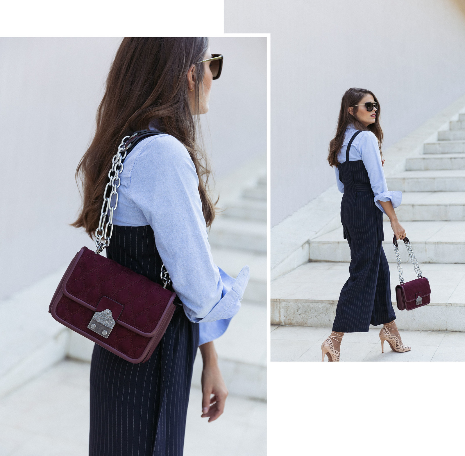 Jessie Chanes Seams for a desire - Pinstripped suit topshop heeled sandals schutz parfois bag  -3