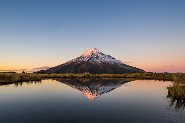 Taranaki reflections captured from Pouakai Tarn.