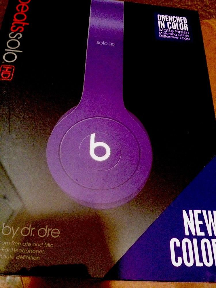 Authentic Beats by Dr Dre Solo HD Drenched Headphones - Pu