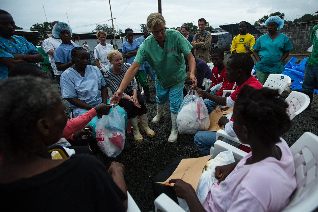 Doctors Without Borders Staff Distribute Take Home Kits For Ebola Survivors In Liberia
