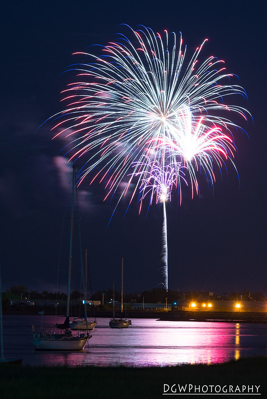 Fireworks over Short Beach