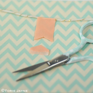 'Merry Christmas' pretty washi tape bunting tutorial 3 | by toriejayne