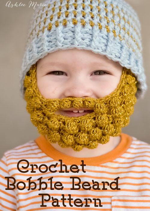 Free Pattern For Crochet Bobble Beards In 5 Sizes Flickr