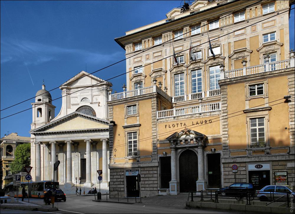 Дворец Flotta Lauro и Базилика Santissima Annunziata del Vastato