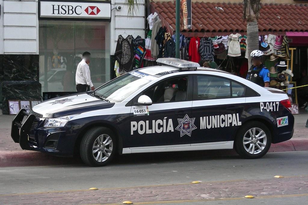 Tijuana Police Chevrolet Cruze In Downtown Tijuana Bc Me So
