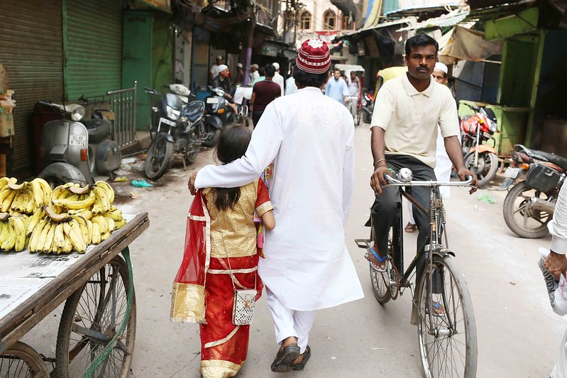 City Faith - The Little Eid Girl in Red, Old Delhi