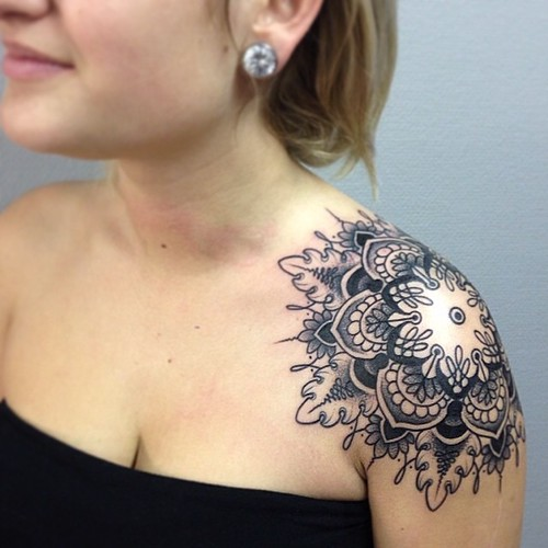 Mandala day soo hard to put the stencil on but fun thank for What do i put on a new tattoo