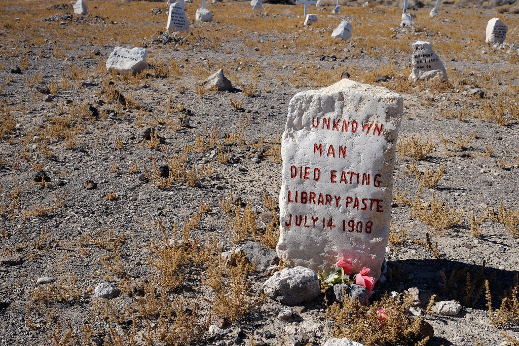 Died Eating Library Paste, Goldfield Cemetery