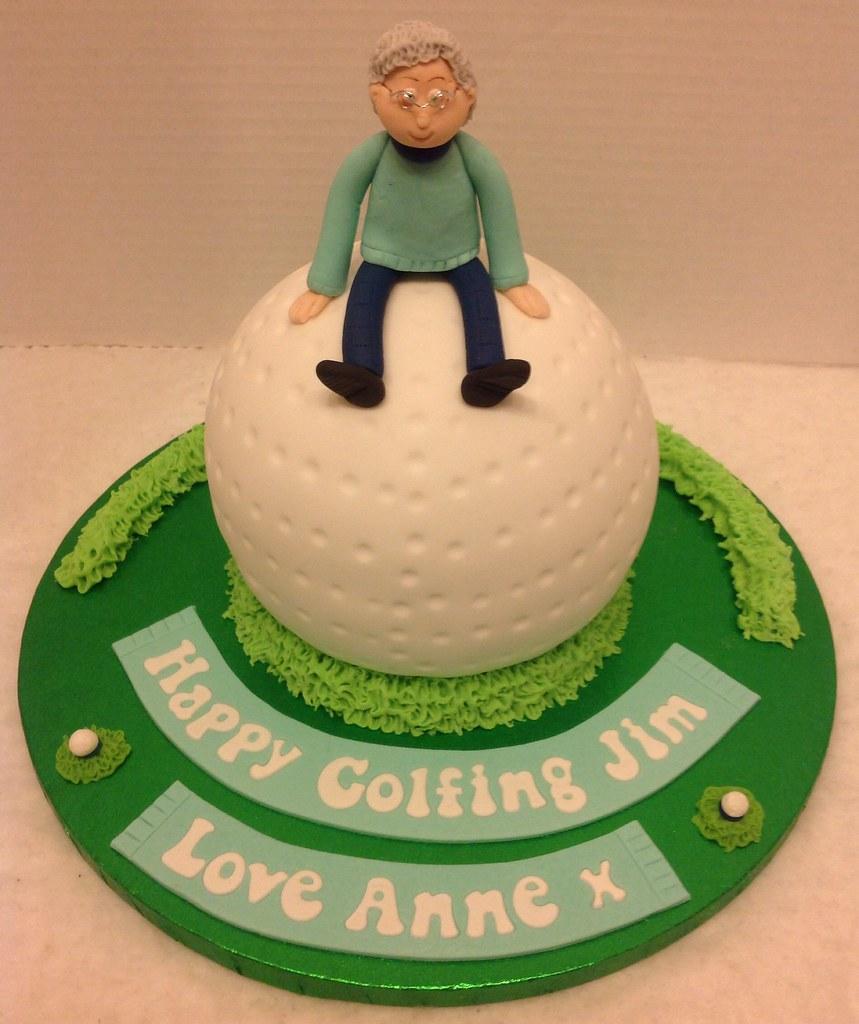 Tremendous Golf Ball Birthday Cake Liz Flickr Personalised Birthday Cards Arneslily Jamesorg