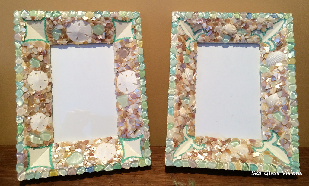 Sea Glass Art Picture Frames by Sea Glass Visions | Sea Glas… | Flickr