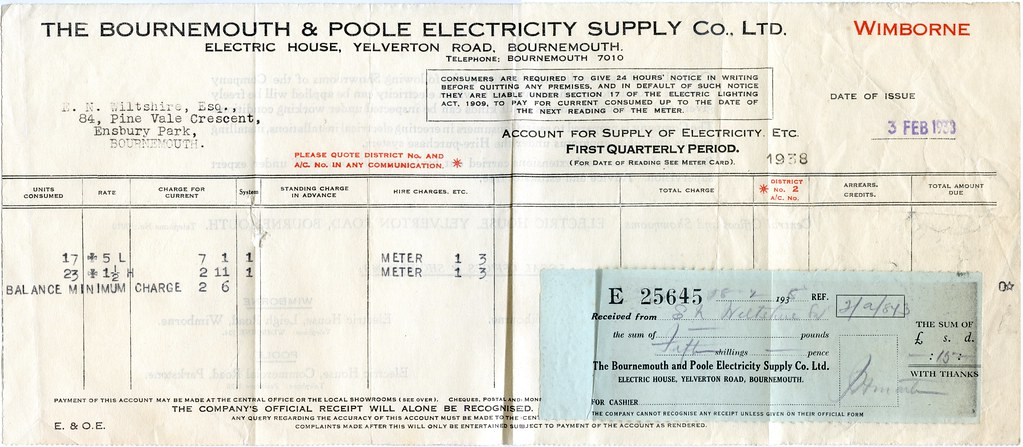 Bournemouth & Poole Electricity Supply Co., Ltd., Electric… | Flickr