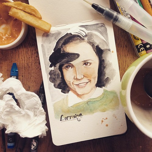 Lorraine Baines. #BTTF #cafepainter | by Pinot & Dita